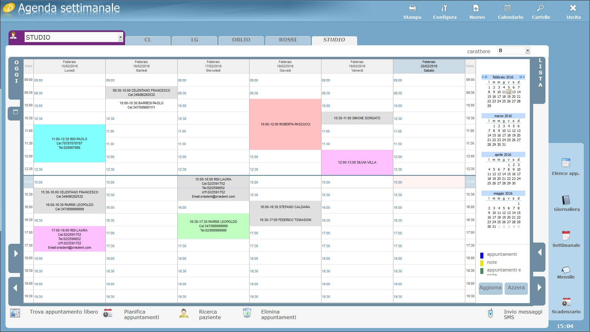 agenda software dentisti