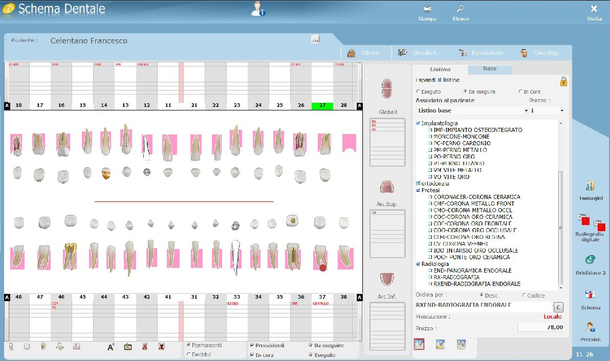 schema caratteristiche software mac dentisti